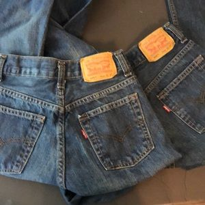 Boys Levis 505 jeans size 14 Slim Lot Of 2 Cotton